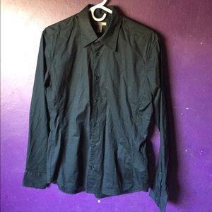 H&M Medium Long Sleeve Button Down Dress Shirt